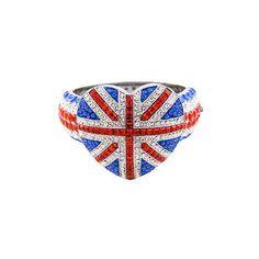 Butler and Wilson Large Union Jack HeartBangle (BW-W0004) ($140) ❤ liked on Polyvore featuring jewelry, bracelets, rings, accessories, london, bangle jewelry, bangle bracelet, hinged bracelet, heart jewellery and butler wilson jewelry