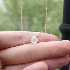 Moonstone Rose or Yellow Gold solid or filled, Heart shaped moonstone, drop pendant moonstone - Genuine Moonstone - delicate moonstone Chocker Necklace, Moonstone Necklace, Arrow Necklace, Or Rose, Rose Gold, Delicate Gold Necklace, White Moonstone, Gold Filled Jewelry, Cute Jewelry
