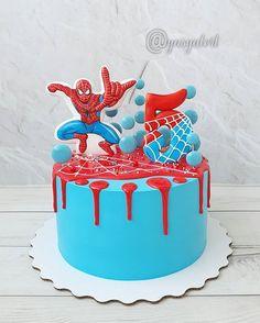 Spiderman Birthday Cake, Image Birthday Cake, Baby Boy Birthday Cake, Fancy Cookies, Cake Cookies, Cake And Cupcake Stand, Cupcake Cakes, Bolo Lady Bug, New Cake