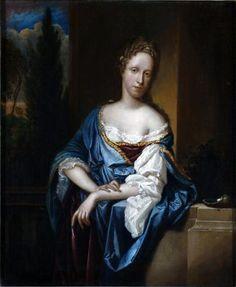 Hedwig Elisabeth of Neuburg, Princess Sobieski, 1696 (Adriaen van der Werff) (1659-1722) Stadtmuseum Landeshauptstadt Düsseldorf