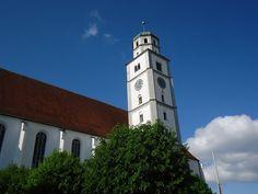 Church in Lauingen in Bavaria, Germany.