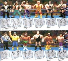 and its action figures! remember Mom always coming down and turning it off Sundays after church. Retro Toys, Vintage Toys, Childhood Toys, Childhood Memories, Wwf Hasbro, Remembering Mom, Wwe Toys, Wwe Action Figures, Andre The Giant