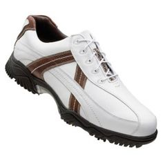 Mens Footjoy Contour Golf Cleats White Leather - ONLY $80.99