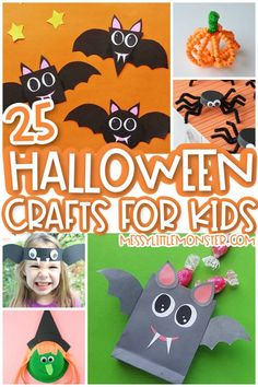Halloween crafts for kids Scary Halloween Crafts, Halloween Lanterns, Halloween Projects, Diy Halloween Decorations, Easy Fall Crafts, Holiday Crafts For Kids, Crafts For Kids To Make, Fun Crafts, Frankenstein Craft