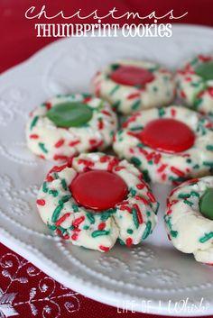 Christmas Thumbprint Cookies (Christmas Recipe)