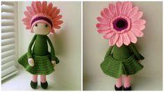 Gerbera Gemma flower doll made by Julia Z - crochet pattern by Zabbez