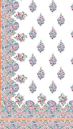 Spring 2017 Paisleys and Florals on Behance Tribal Pattern Art, Textile Pattern Design, Textile Patterns, Print Patterns, Aztec Art, Motif Paisley, Paisley Art, Textiles, Textile Prints