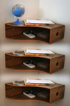 IKEA Knuff magazine file: Storage idea for kitchen or office; place in corner as shown or vertical under cabinets