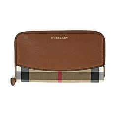 Burberry House Check Sartorial Leather Wallet - Brown Ochre * Unbelievable  item right here! : Handbag Wallets