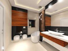 Bathroom Spa, Bathroom Doors, Bathroom Ideas, Contemporary Bathrooms, Grey Paint, Cool Paintings, Bathtub, Mirror, Design