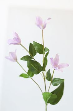 Artificial Wildflowers for DIY Wedding Flower Designs Mini Clematis Faux Wildflowers in Lavender - 2