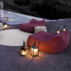 Paola lenti Outdoor Rope lounger