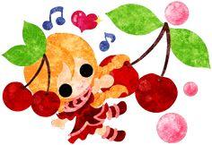 フリーのイラスト素材さくらんぼのドレスを着た少女のイラスト  Free Illustration The illustration of the girl in the cherry dress   http://ift.tt/2lpmlWj