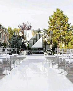 Aisle Runner Wedding, Wedding Table, Outdoor Wedding Aisles, Wedding Ideas, Glitz Wedding, All White Wedding, Wedding Designs, Wedding Ceremony, Wedding Planning