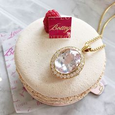 Kunzite and Diamonds and Macaroons, oh my! Kunzite and Diamond princess necklace handmade by Ricardo Basta Fine Jewelry