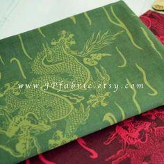 Japanese Dragon fabric. Pure cotton. Natural, medium thick, non-sheer. Ship worldwide.  ¨¨¨°º©©º°¨¨¨¨°º©©º°¨¨¨¨¨°º©©º°¨¨¨¨°º©©º°¨  30% OFF with €300