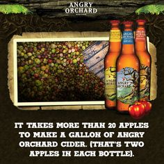 An apple a day? Better make it two. #NationalAppleMonth #AngryOrchard #FunFact #GlutenFree #HardCider