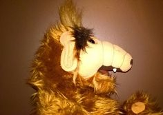 ALF Vintage Plush 1986 Alien Productions Coleco Stuffed Animal Clean Fuzzy Brown #Coleco