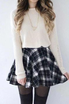 cute outfits for school - cute outfits . cute outfits for school . cute outfits for winter . cute outfits with leggings . cute outfits for school for highschool . cute outfits for women . cute outfits for school winter Teen Girl Outfits, Teen Fashion Outfits, Mode Outfits, Cute Fashion, Look Fashion, Trendy Outfits, Korean Fashion, Girl Fashion, Cute Outfits With Skirts
