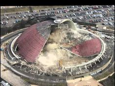 Over the nine months it took to dismantle the Pittsburgh's Civic Arena stadium, DAYGraphics2012 recorded the process with a regular ol' hand-held camera. Afterwards, he compiled over 250 photos to create this video