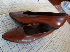 Vintage Leather Western Slip Ons  $28.00