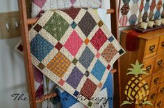 Rocky Mountain Puzzle QuiltedScrap Squares Doll QuiltMini Puddle JumpingWords To Live By Quilt