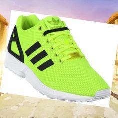 Chaussure Adidas Originals ZX Flux Vert Noir Homme{WHJHx}