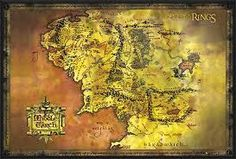 lord of the rings map framed - Google Search