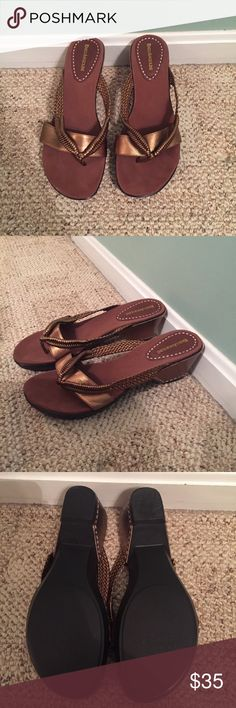 Enzo Angiolini! Size 10 heeled sandals Enzo Angiolini! Size 10 heeled sandals. Only worn a couple of times! Excellent condition! Enzo Angiolini Shoes Sandals