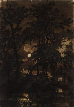 A Transparency: The Moon Seen through Trees by Joseph Mallord William Turner (1775-1851)