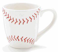 Ceramic Baseball Coffee Mug