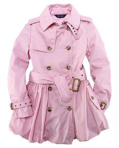 ralph lauren childrenswear girls' bubble trench coat
