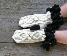 keep me warm, cool gifts for teens, cable knit gloves, Knit wool mittens, Knit alpaca mittens, alpaca wool mittens, white winter gloves, warm winter gloves, Knitted bobble mitts, skating party mitts, hand knit mittens, alpaca bobble mitts, warm winter style https://www.etsy.com/listing/478993819/knit-alpaca-wool-mittens-black-and-white