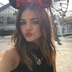 """When Lucy Hale was super adorable with this subtle ombre and cute headband look. 