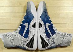 Nike Kobe 9 Elite 'UCONN' Custom by Mache for Geno Auriemma. Kobe Sneakers, Kobe Shoes, Nike Shoes Cheap, Nike Shoes Outlet, Cheap Nike, Jordan 23, Nike Outfits, Nike Boots, Nike Kicks