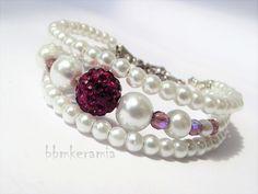 BBM Kerámia Ékszer Pearl Earrings, Beaded Bracelets, Pearls, Jewelry, Pearl Studs, Jewlery, Jewerly, Pearl Bracelets, Beads
