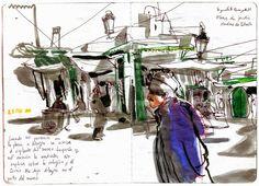 Urban Sketchers Portugal: Inma Serrano na Casa-Atelier Vieira da Silva