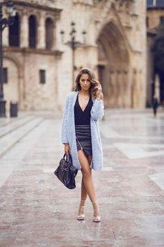 30 ways to wear a black leather skirt // Kenzas