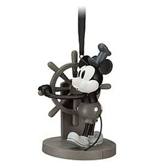 Steamboat Willie Mickey Mouse Ornament. Since about 30 of my mickey ornaments were broken accidentally a few years ago, I need more to replace them.