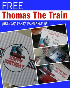 Be sure to check out this FREE Thomas the Train Engine Birthday Party Printables…