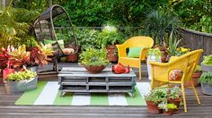 """Lumber PartyThe decking's timeworn patina is actually faked: Clark prematurely """"aged"""" the woo - GoodHousekeeping.com"""