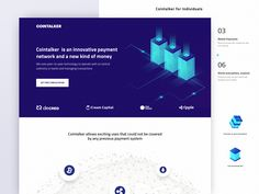 Landing Page for Cryptocurrency and Stock Exchange Web Platform Web Platform, Cryptocurrency, It Works, Innovation, Technology, Tecnologia, Tech, Engineering, Nailed It