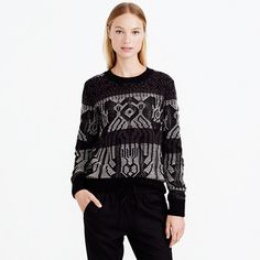 Our designers took inspiration from a much-loved vintage blanket to create this unusual sweater, which is made from a mix of combed cotton and warm wool. Every time we wear it, we feel a little bit like we're hanging out in a log cabin, next to a crackling fire. And what's not to like about that? <ul><li>Oversize fit.</li><li>Hits slightly below hip.</li><li>Combed cotton and wool.</li><li>Rib trim at neck, cuffs and hem.</li><li>Dry clean.</li><li>Import.</li></ul>