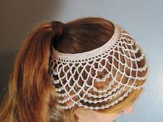 crochet wedding headdress