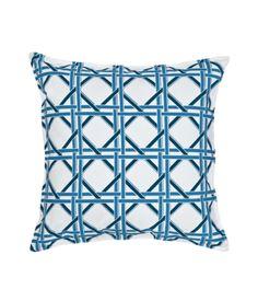 Blue cane pillow