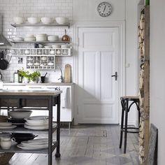 Kjøkken - fliser på vegg