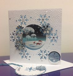 Snowy Glade, Die'sire Create a Card, Crafters Companion, Hunkydory