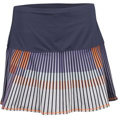 LUCKY IN LOVE Women`s Long On the Line Tennis Skort Concord (€60) ❤ liked on Polyvore featuring activewear, activewear skirts, golf skirts and long skorts