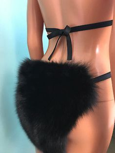 d644062b84 Incredible Black Fox Fur Bikini body.