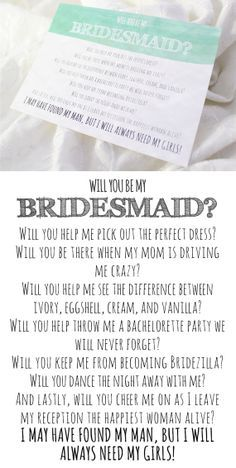 bridesmaid to do list cards - Google Search